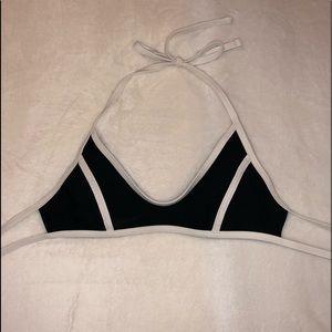black and white bikini top